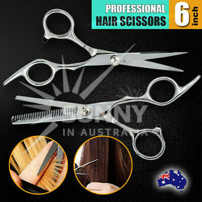 "Salon 6"" Hair Cutting & Thinning Scissors Shears Professional Hairdressing Set"