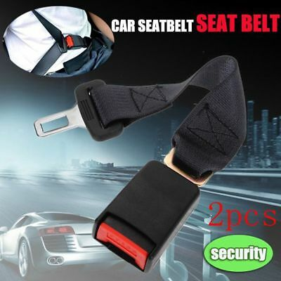 "2x 36cm Universal Car Safety Seat Belt Seatbelt Extension Extender 7/8"" Buckle"