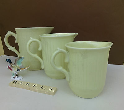 GEORGE CLEWS & CO  ~DARK CREAM OATMEAL~ graduating jugs x 3