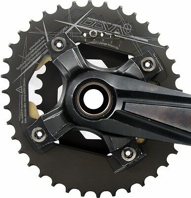 2017 NEW MTB DOVAL Chainring BCD104 2x double for Shimano AL6061