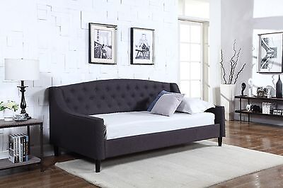 Brand New Single Fabric Dream DayBed Grey With Wooden Sprung Slats Base Handmade
