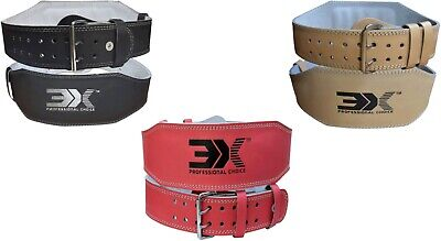 3XSport Weight Lifting Nubuck Leather Power Belt Back Support Strap Gym Training