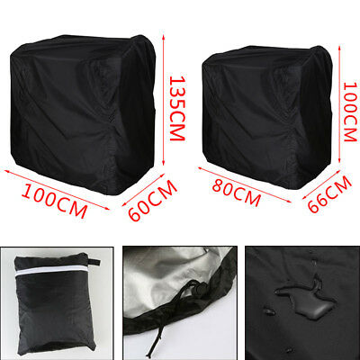 Outdoor BBQ Barbecue Cover Waterproof Rain Snow Dust UV Protection Black 2 Size