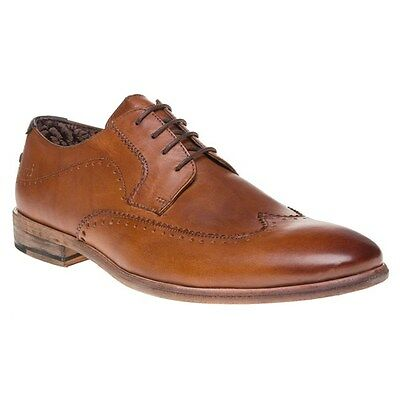 New Mens SOLE Tan Bantry Leather Shoes Brogue Lace Up