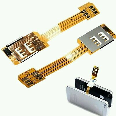 Dual Sim Adapter für iPhone  5 5s 5c 6s 6 plus   ipad mini/air