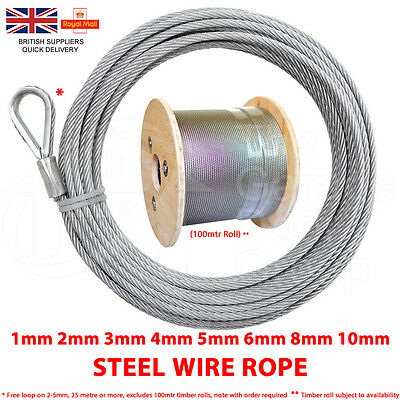 Steel Wire Rope Galvanised Steel Metal Rope Pulling Lifting Cable SPECIAL OFFER