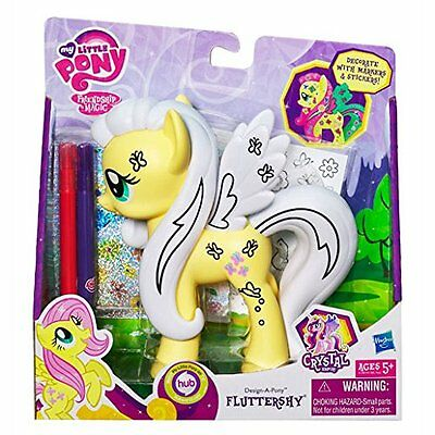 My Little Pony, Design-ein-Pony, Kristall Deko Pony Fluttershy + Stift, Sticker
