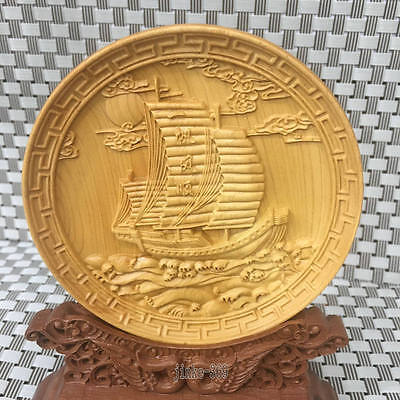 Hand carved circular pattern screen - smooth sailing