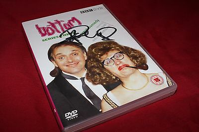 Genuine Hand Signed Rik Mayall Bottom Yound Ones Dvd - AFTAL