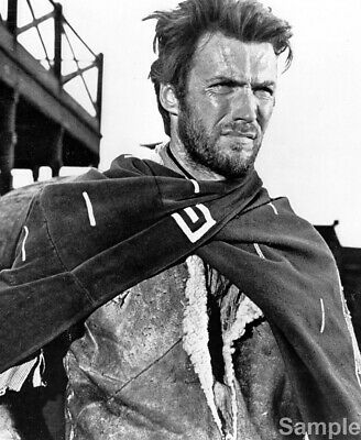 Clint Eastwood Fistful of Dollars Glossy Black & White Photo Print Picture
