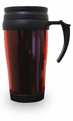 Thermal Insulated Travel Coffee Mug 0.45L Flask Cup Removable Lid Red