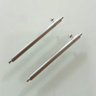 1 Pair Quick Release Spring Bar S/less Steel 18mm 20 22 24 mm Watch Speed Pins