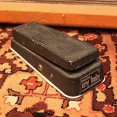 Vintage 1970s Jen Mister Cry Baby Super Wah Green Fasel Guitar Effects Pedal