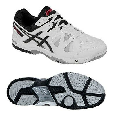 ASICS Gel Game 5 Tennis Shoe Trainer - White / Black / Red - CLEARANCE