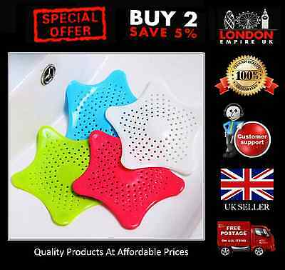 Starfish Sink Strainer Hair Trap Bath Rubber Drain Cover Hair Catcher TOPQUALITY