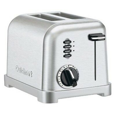 Cuisinart CPT-160 Metal Classic 2-Slice Toaster, Brushed Stainless NEW