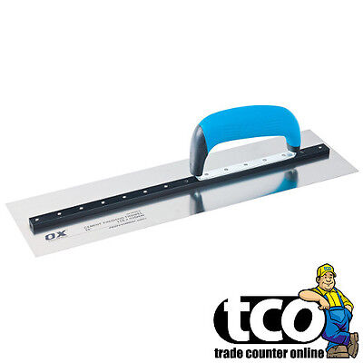 "Ox PRO CEMENT FINISHING Trowel Heavy Duty Stainless Steel Blade - 14"" or 16"""