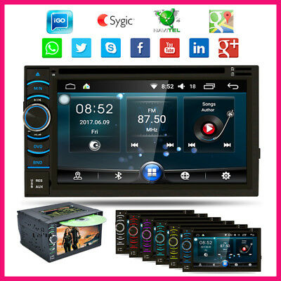 6.2'' Android 4.4 WIFI+3G Quad Core DVD GPS Navigation Radio Player 2 Din MP3 FM
