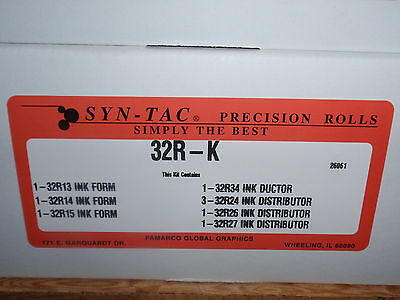 SynTac Ryobi Rollers Syn-Tac 3302 3304H 32R-K  9 soft ink roller kit Best Price