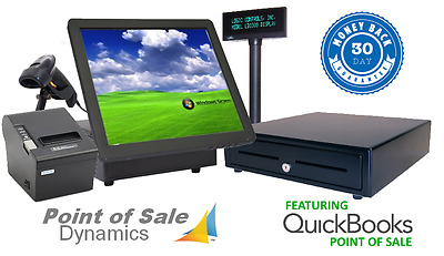 New Retail Point of Sale POS All In One System w/ QuickBooks Pro 2015 PC Bundle
