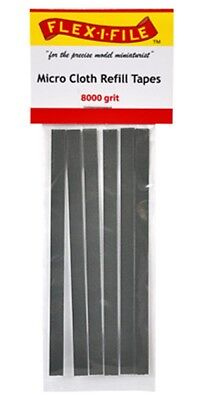 Flex-I-File Micro Cloth Refill Tapes 8000 Grit 6pc  for Sanding Frame #MCRT08000