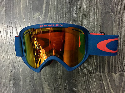 Oakley Maschera Snowboard goggle O2 XL Neuron burnished red fire iridium