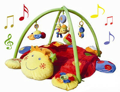 Baby Activity Gym/Mat - Smiley Face Head Pillow Musical Lullaby Baby Play Mat