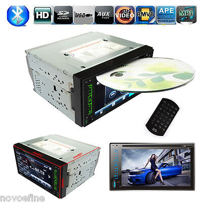 "Bluetooth 6.2"" HD 2 DIN Coche Reproductor FM Radio DVD CD MP3 Player USB SD AUX"