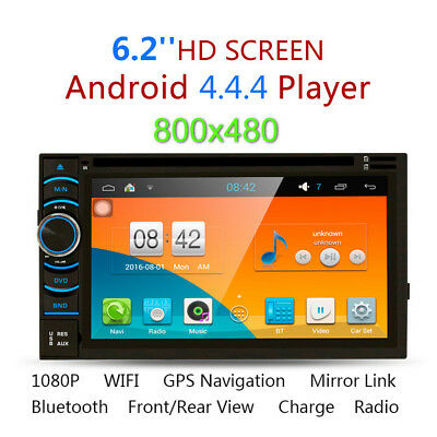 "6.2"" Bluetooth HD 2Din Android 4.4.4 Coche DVD Reproductor GPS CD WIFI USB SD FM"