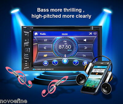 "6.2"" Universal Coche Estéreo DVD Reproductor Bluetooth 2 Din FM USB TF MP3 AUX"