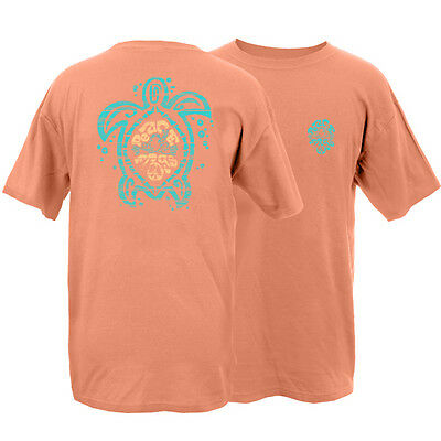 New Peace Frogs Sea Turtle Garment Dye Large  Adult T-Shirt