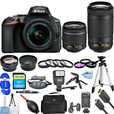 Nikon D5600 DSLR Camera with AF-P 18-55mm & 70-300mm VR Lenes MEGA BUNDLE