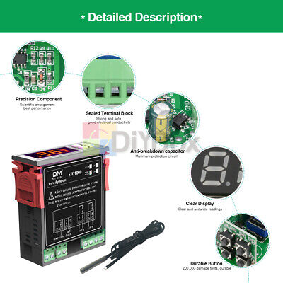 Digital STC-1000 Temperature Controller Temp Sensor Thermostat Control  220-240V