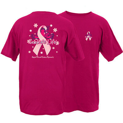 New Peace Frogs Cranberry Breast Cancer Small Adult T-Shirt