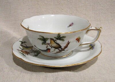 Herend Rothschild Bird Cup and Saucer # 734