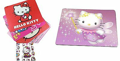 Hello Kitty Mousepad with Travel School Mousepad Hello Kitty 3-D Stickers, HK:MP