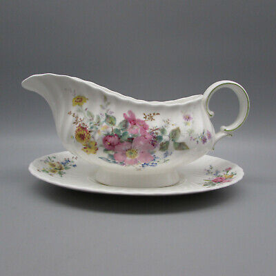 Royal Doulton China ARCADIA Gravy Boat & Tray