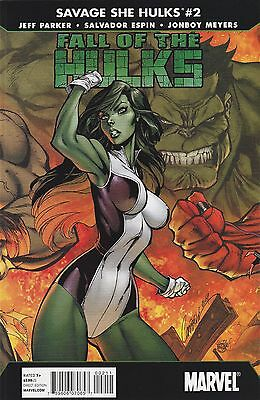 Fall of the Hulks: Savage She-Hulks #2 NM Marvel Comics J. Scott Campbell cover