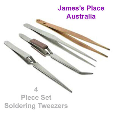 Soldering Tweezer Set of 4 - from BeadSmith.