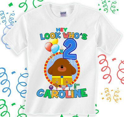 Hey Duggee T-shirt Personalize Birthday tee