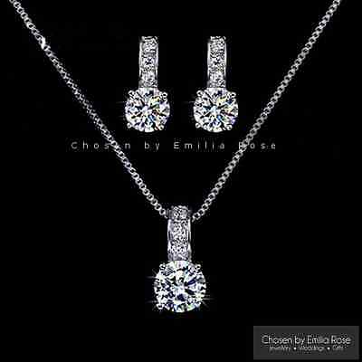 Bridesmaid Jewellery Set, Wedding Bridal Crystal Necklace & Earrings Jewelry