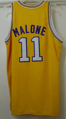 2a0f82ec151 Vintage Mitchell   Ness NBA Los Angeles Lakers Malone  11 Jersey Size ...