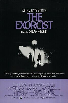 The Exorcist - Linda Blair - Max Von Sydow - A4 Laminated Mini Poster