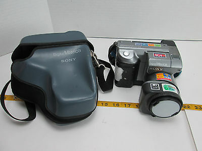 "Sony Digital Mavica MVC-FD91 3.5"" Floppy Disk/Disc Camera w/Case MPEGMovie 14X T"
