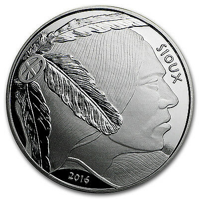 2016 1 oz Silver Native American Mint $1 Sioux Indian - SKU #102752