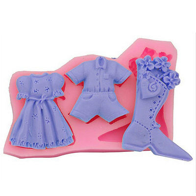Clothing Silicone Cake Chocolate Cookies Bread Decorating Baking Christmas Mould