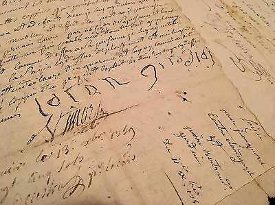LOT OF TWO ANTIQUE PAPERS 1700s