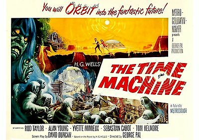 The Time Machine (2) - Rod Taylor - George Pal - A4 Laminated Mini Poster