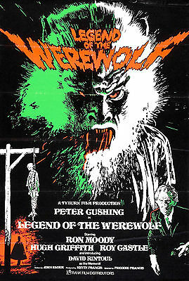 The Legend of the Werewolf - Peter Cushing - A4 Laminated Mini Poster