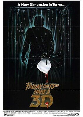 Friday the 13th Part 3 - 3D - Jason Voorhees - A4 Laminated Mini Poster